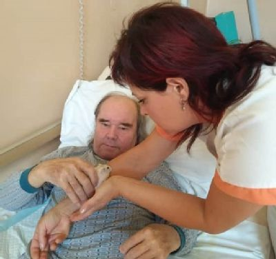 Džungarská rodinka křečků těší vlounské nemocnici klienty sociální služby